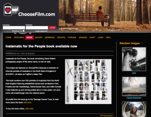 Choose FIlm Instamatic for the People book