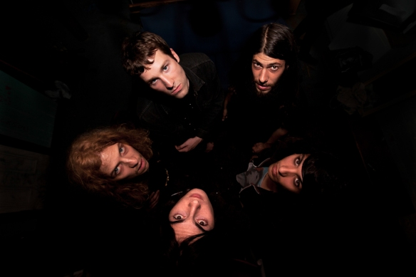 The Voyeurs, backstage portrait at  Night and Day, Manchester, 15th August 2014