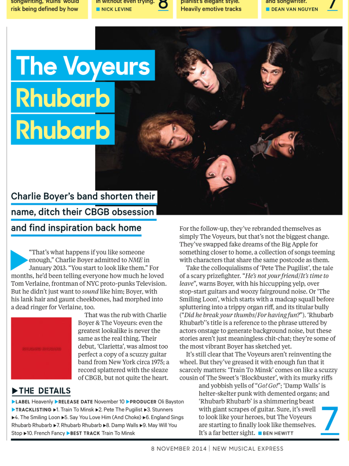 The Voyeurs NME - 8th November 2014