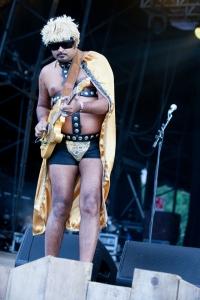 King Khan & BBQ Show,perform at End Of The Road Festival, Larmer Tree Gardens, Salisbury, 4th September 2015