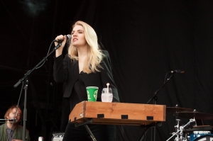 Slow Club,perform at End Of The Road Festival, Larmer Tree Gardens, Salisbury, 5th September 2015