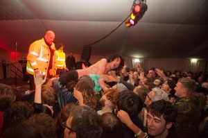 Fat White Family play a secret midnight gig at the End Of The Road Festival, Larmer Tree Gardens, Salisbury, 5th September 2015