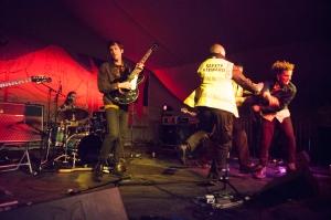 The Voyeurs,perform at End Of The Road Festival, Larmer Tree Gardens, Salisbury, 5th September 2015