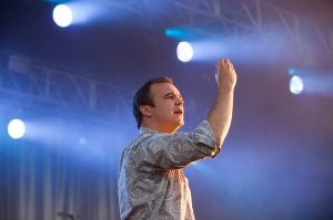 Future Islands,perform at End Of The Road Festival, Larmer Tree Gardens, Salisbury, 6th September 2015