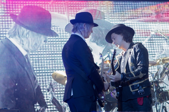 The Libertines,Peter Doherty and Carl Barat, perform at SSE Hydro, Glasgow, 21st January 2016
